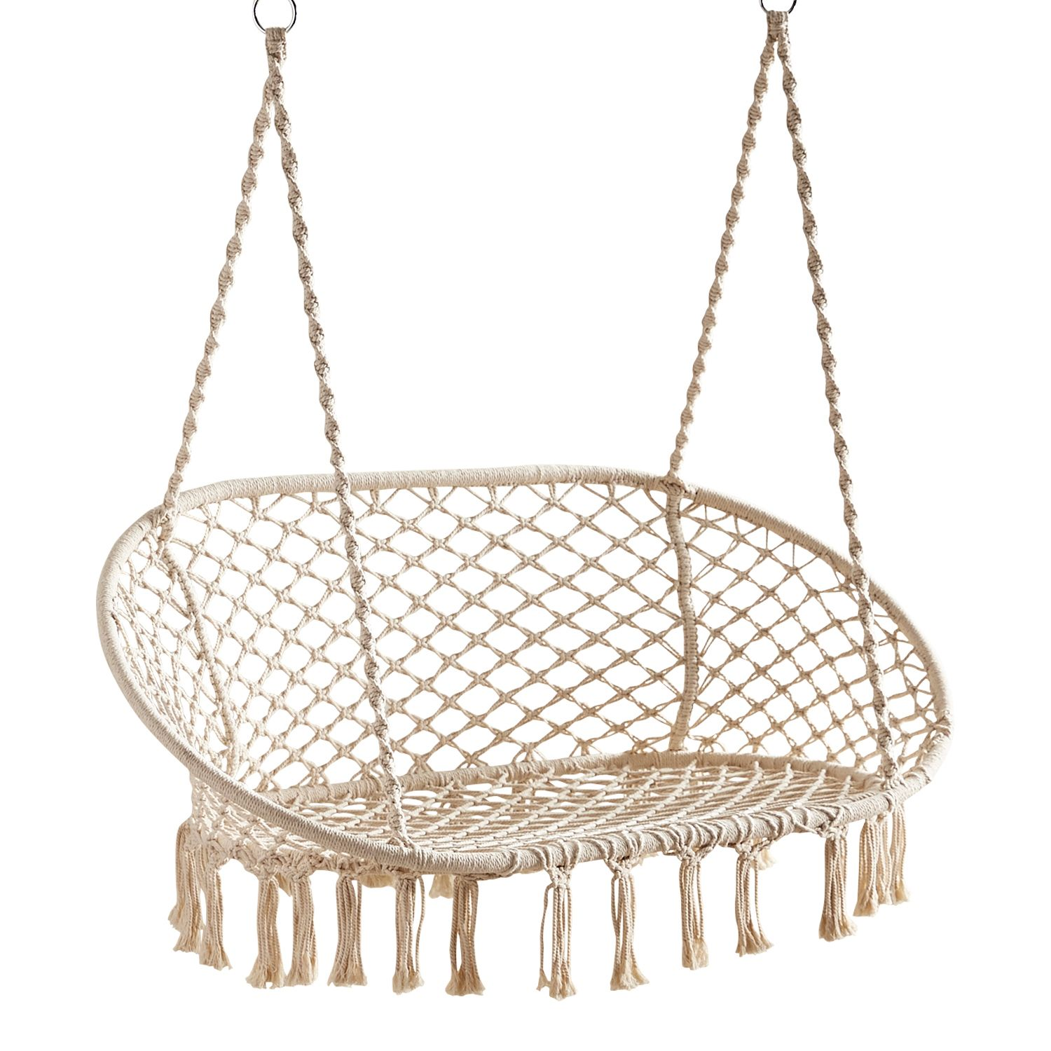 Macrame Double Hanging Swing Chair Review Hanging Chairs