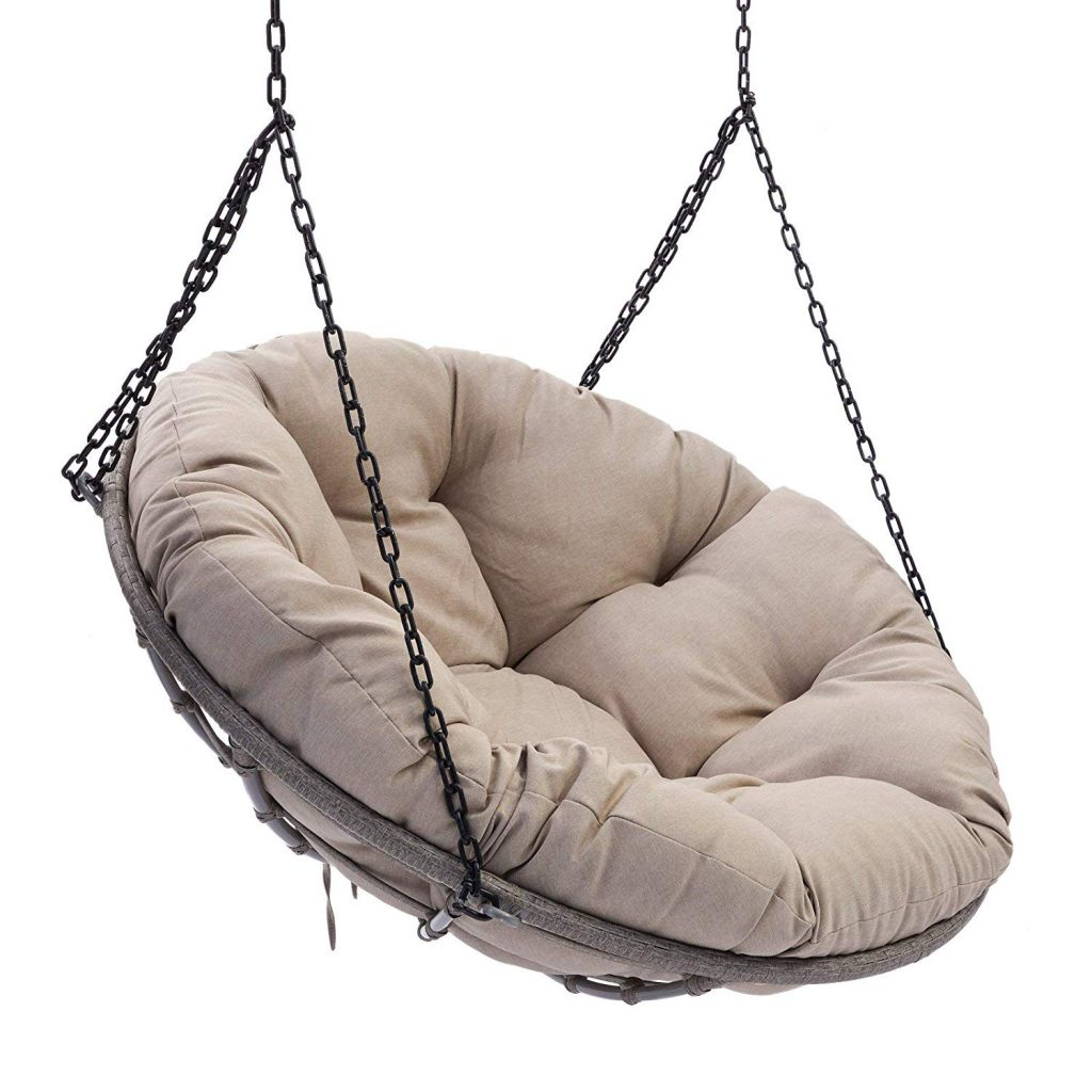 Exceptionnel Outdoor Patio Wicker Papasan Hanging Chair Lounge