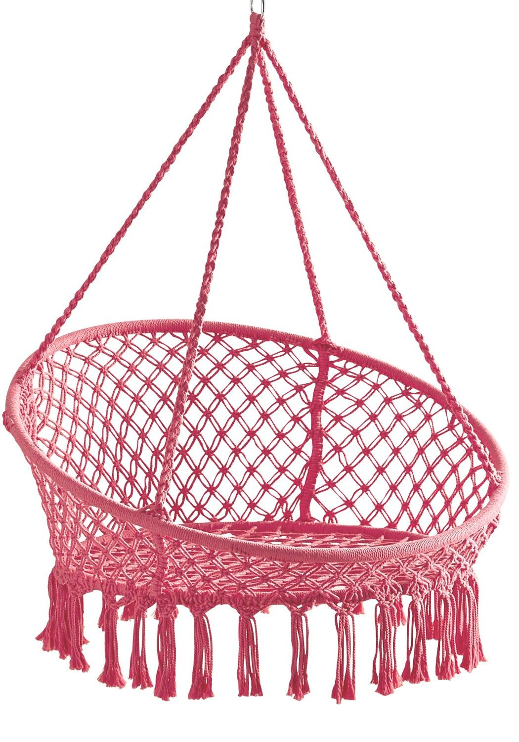 Pink Macrame Hanging Hammock Chair Review Pier1 Hanging Chairs