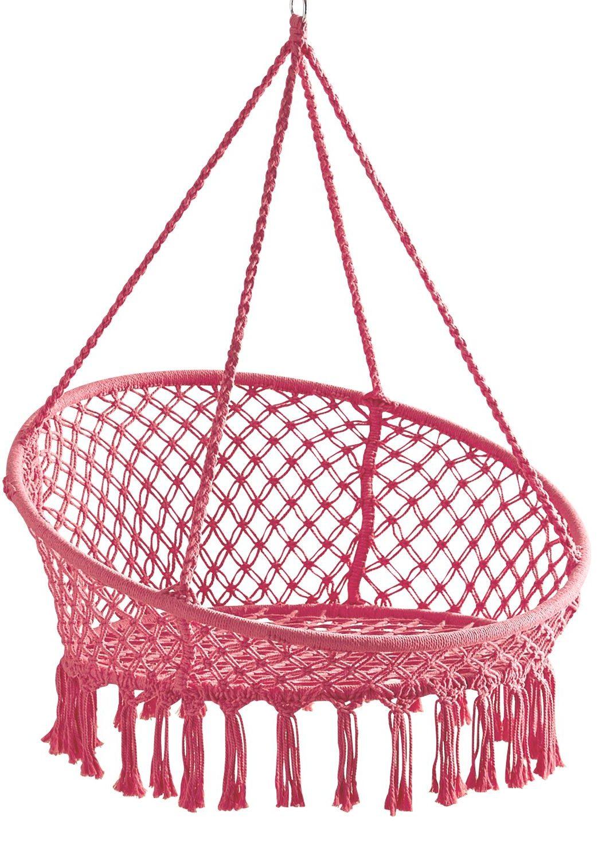 pink-macrame-hanging-hammock-chair-review-pier1