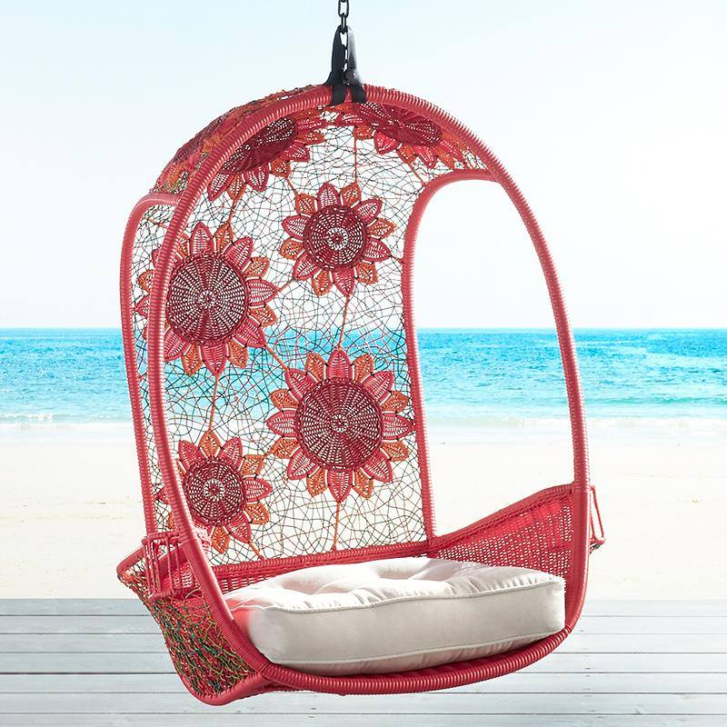 swingasan-pier1-red-hanging-chair-hand-woven-flowers