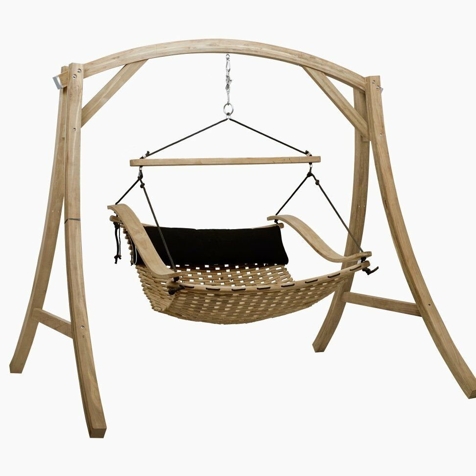 teak porch swing with stand-hanging loveseat adjustable