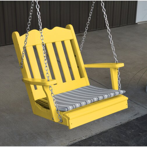 yellow-plastic-recycled-porch-swing-one-seater-2-feet-for-small-spaces