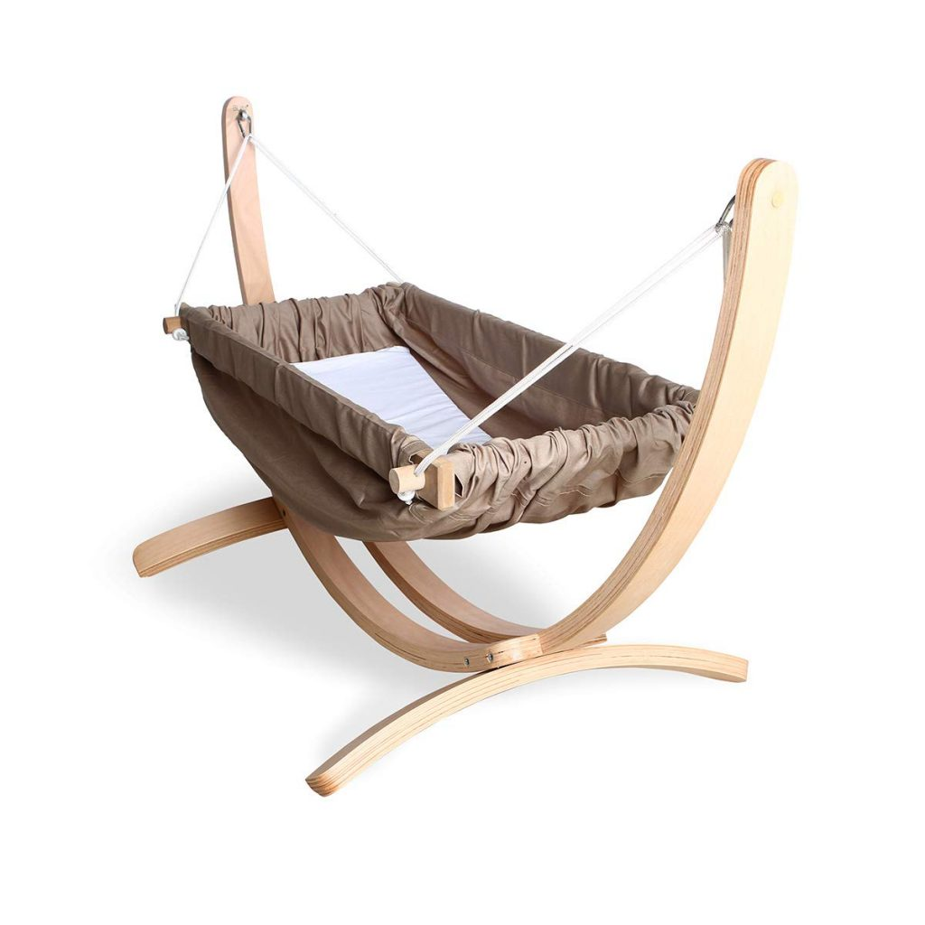 Baby-Hammock-Cradle-Cribs-with-stand-made-of-cotton-and-wood