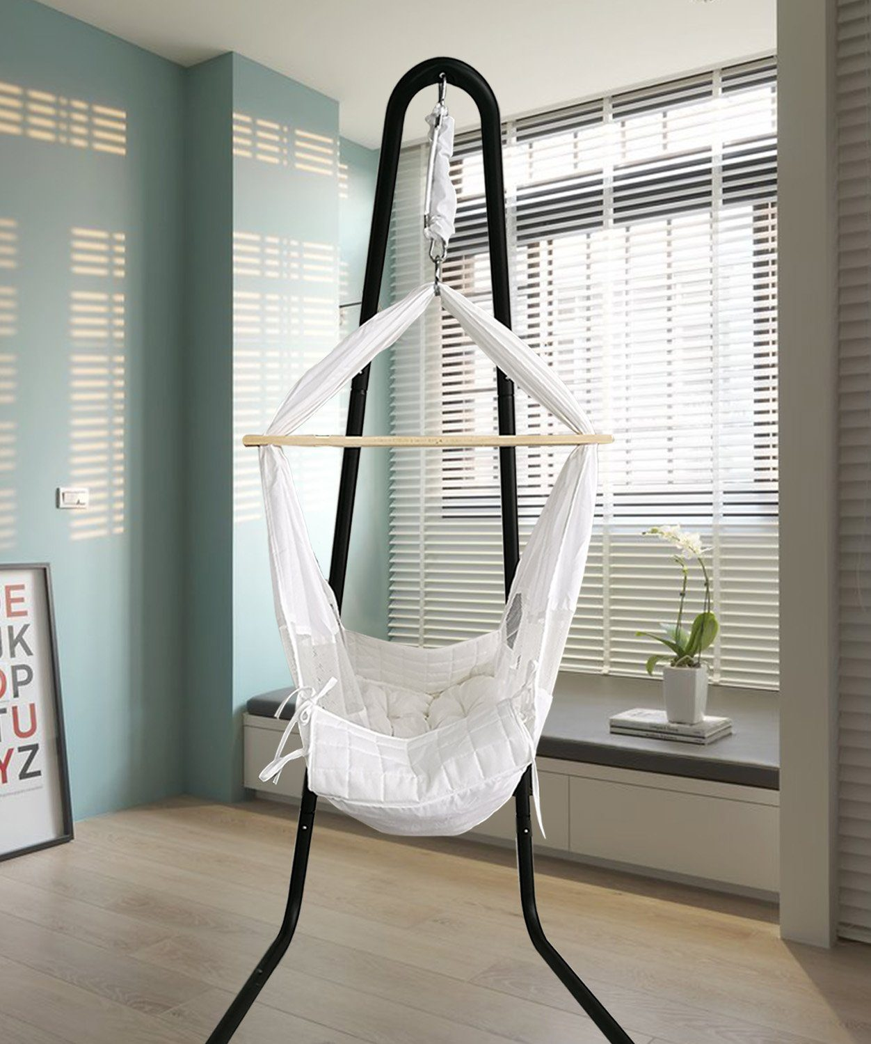 Baby Hammock Cradle Swing Crib With Stand Hanging Bassinet For Nursery Newborn Hanging Chairs