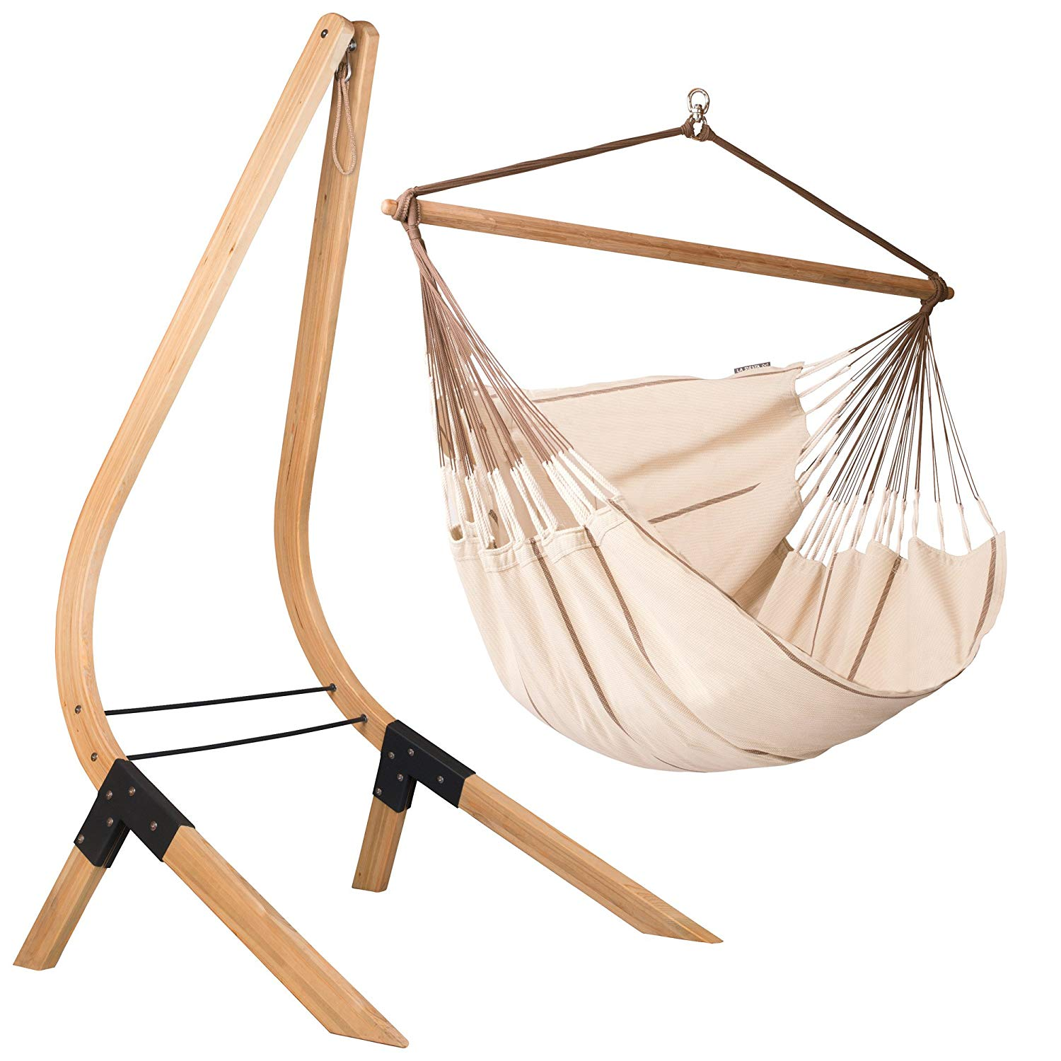 Organic-Cotton-Lounger-Swing-Hammock-Chair-with-wooden-Stand-for-bedroom