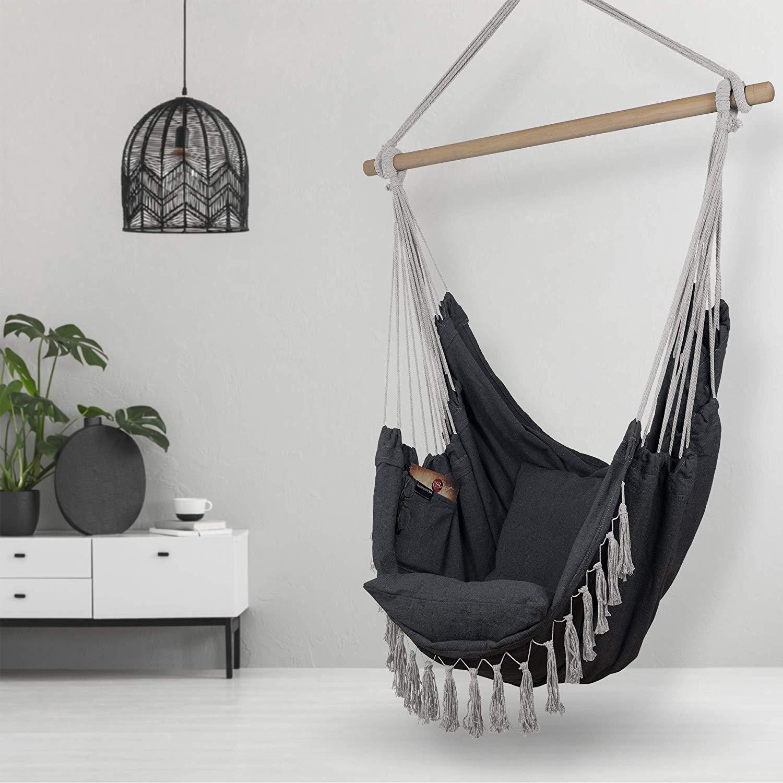 black-hanging-chair-indoor-living-room-bedroom