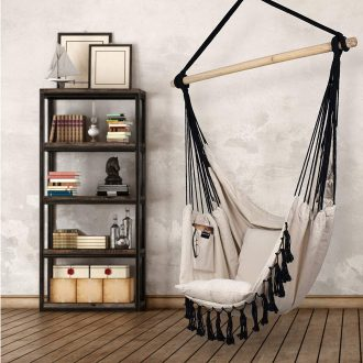 create a styling reading nook with floating chairs for