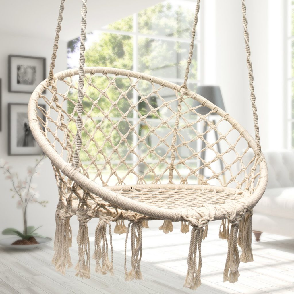 hanging-chair-for-bedroom-in-white-under-100-dollar