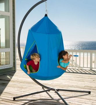 hanging-tent-pod-with-stand-for-boys-blue