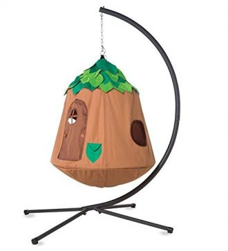hugglepod-hangout-hanging-tent-playhouse-with-stand-for-kids-unisex