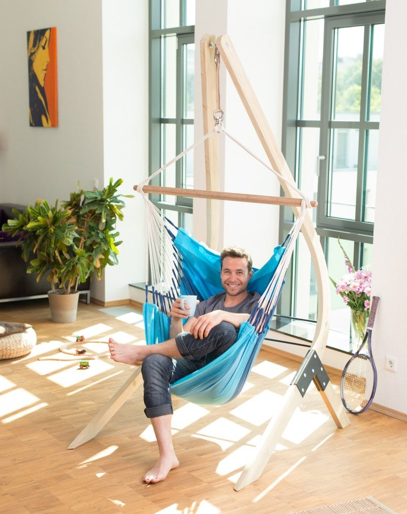 A Bedroom Hanging Chair With Stand Is Perfect For Rented