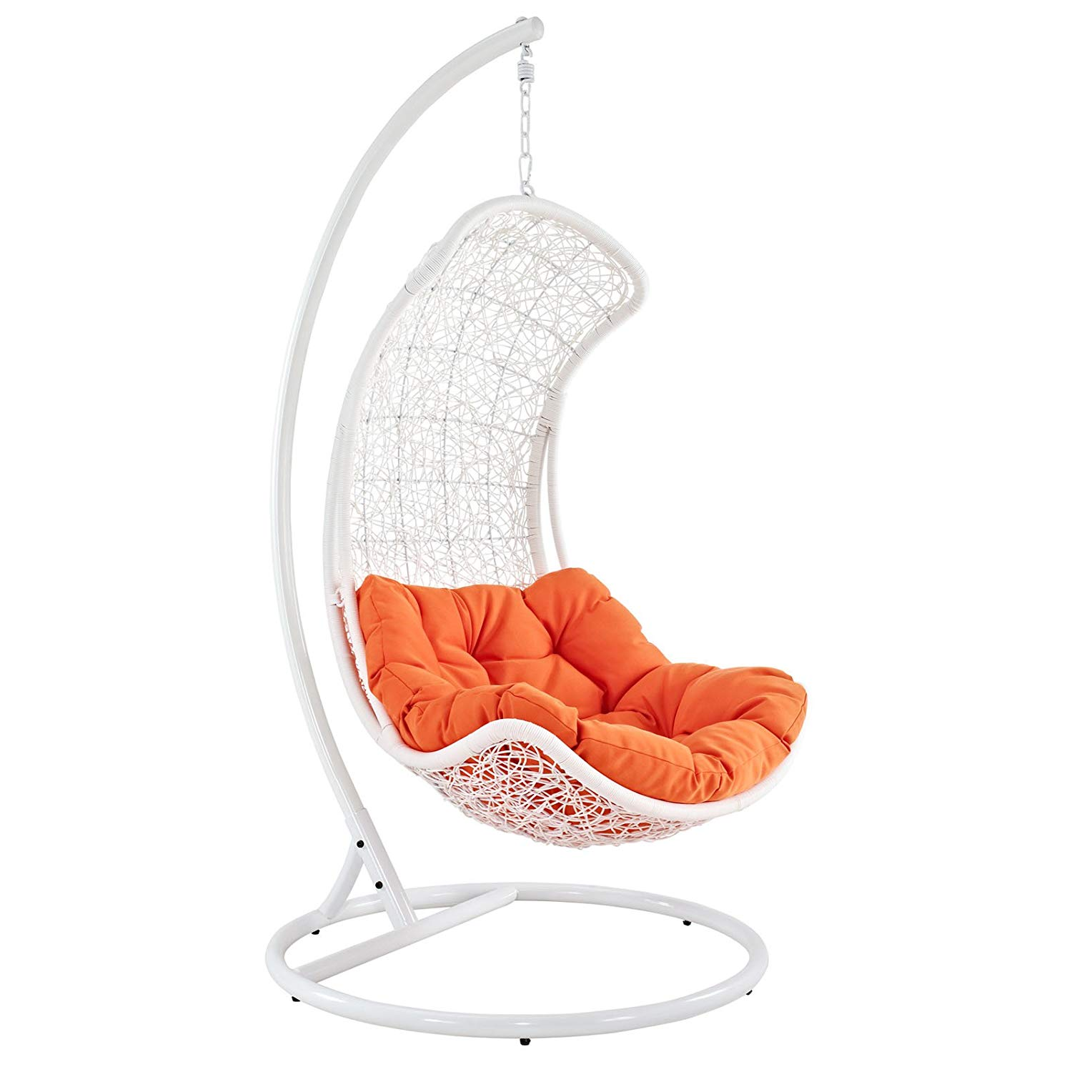 white-small-hanging-egg-chair-with-stand-for-small-porch