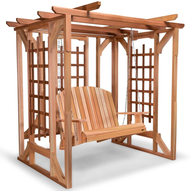 Cedar Arbor Swing Set for plants
