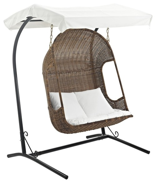 contemporary-double-swing-hammock-for-two-people-with-conopy-and-stand-outdoor