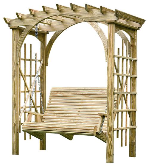 craftsman-garden-arbor-with-swing-pine-3x6