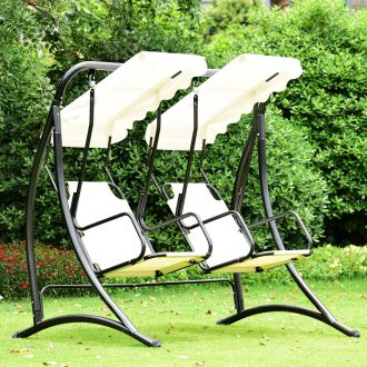 outdoor-swing-chair-for-two-with-separate-seats-and-canopy