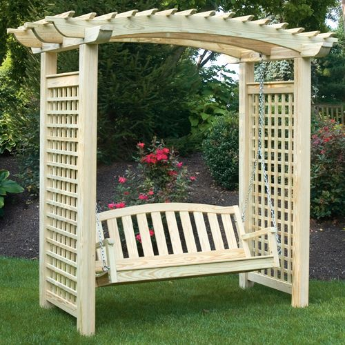 pine-treated-arbor-pario-swing-in-garden