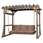 Claremont Pergola Lounger Porch Swing with Stand
