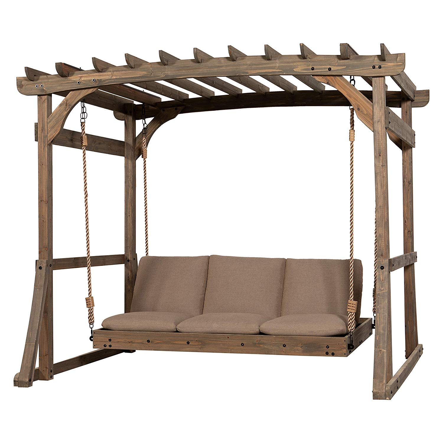 Review Claremont Pergola Lounger Porch Swing with Stand