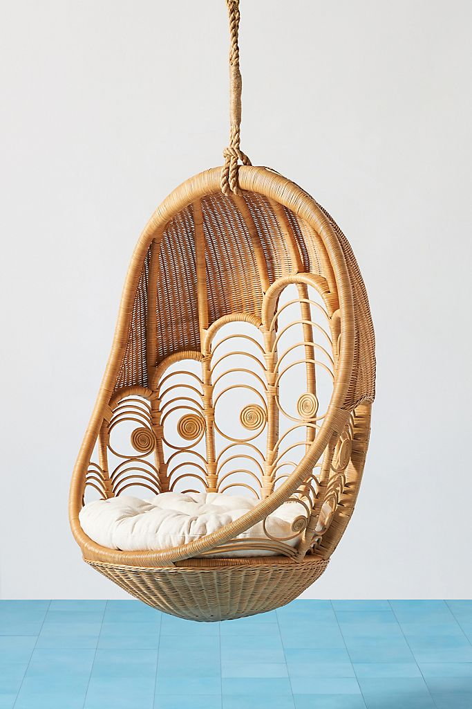 Peacock Indoor Outdoor Hanging Chair Basket Rattag Egg