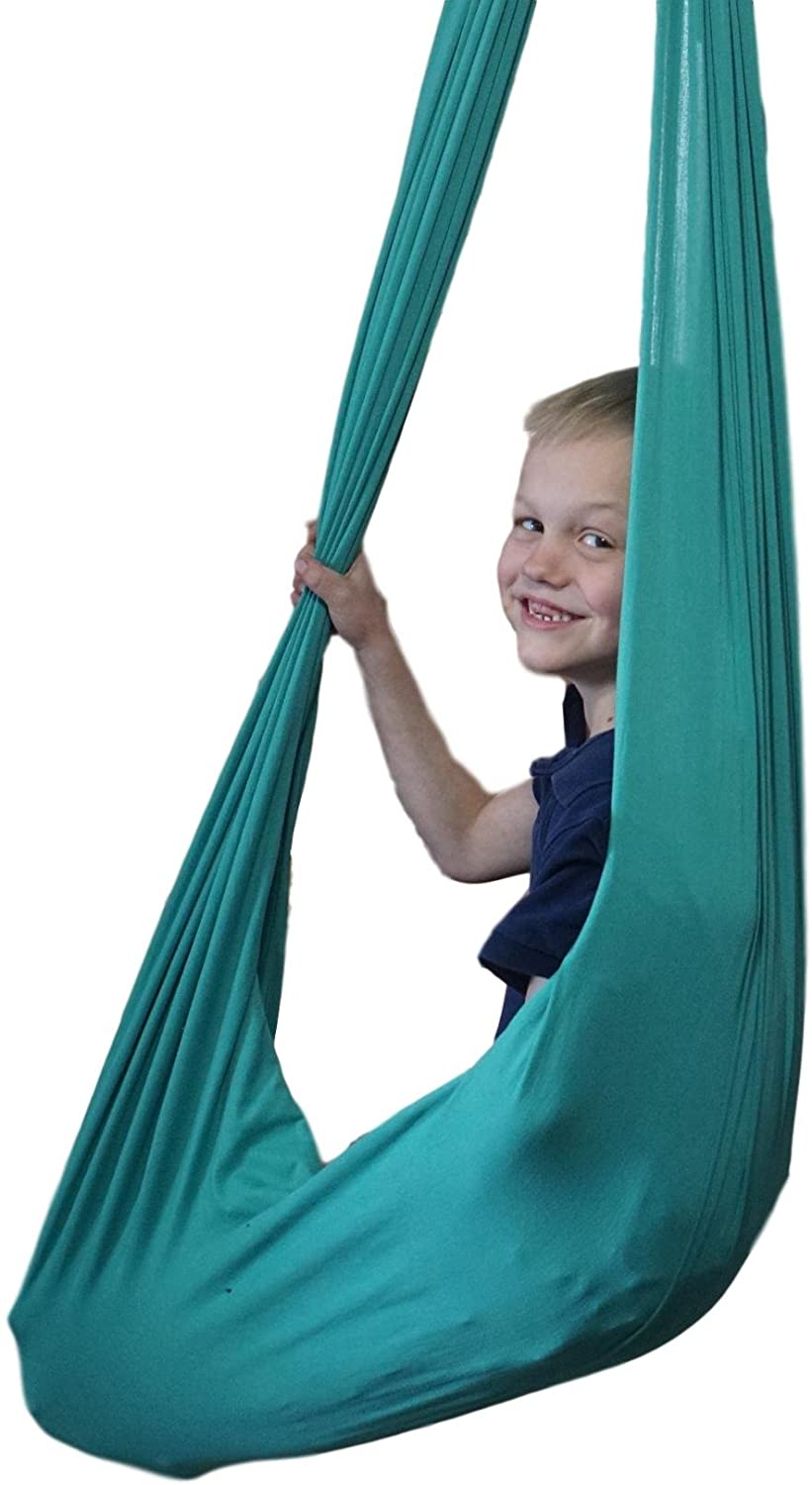 Indoor Therapy Swing for Kids with Special Needs Hardware Included Snuggle Swing _ Cuddle Hammock for Children with Autism- ADHD-Aspergers _ Great for Sensory Integration