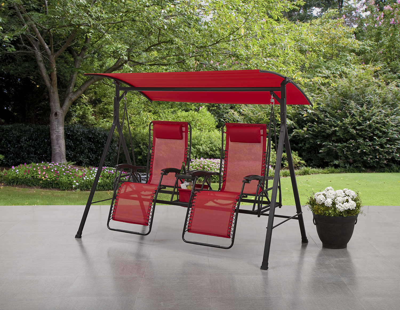 Zero Gravity Reclining 2 Seater Porch Swing