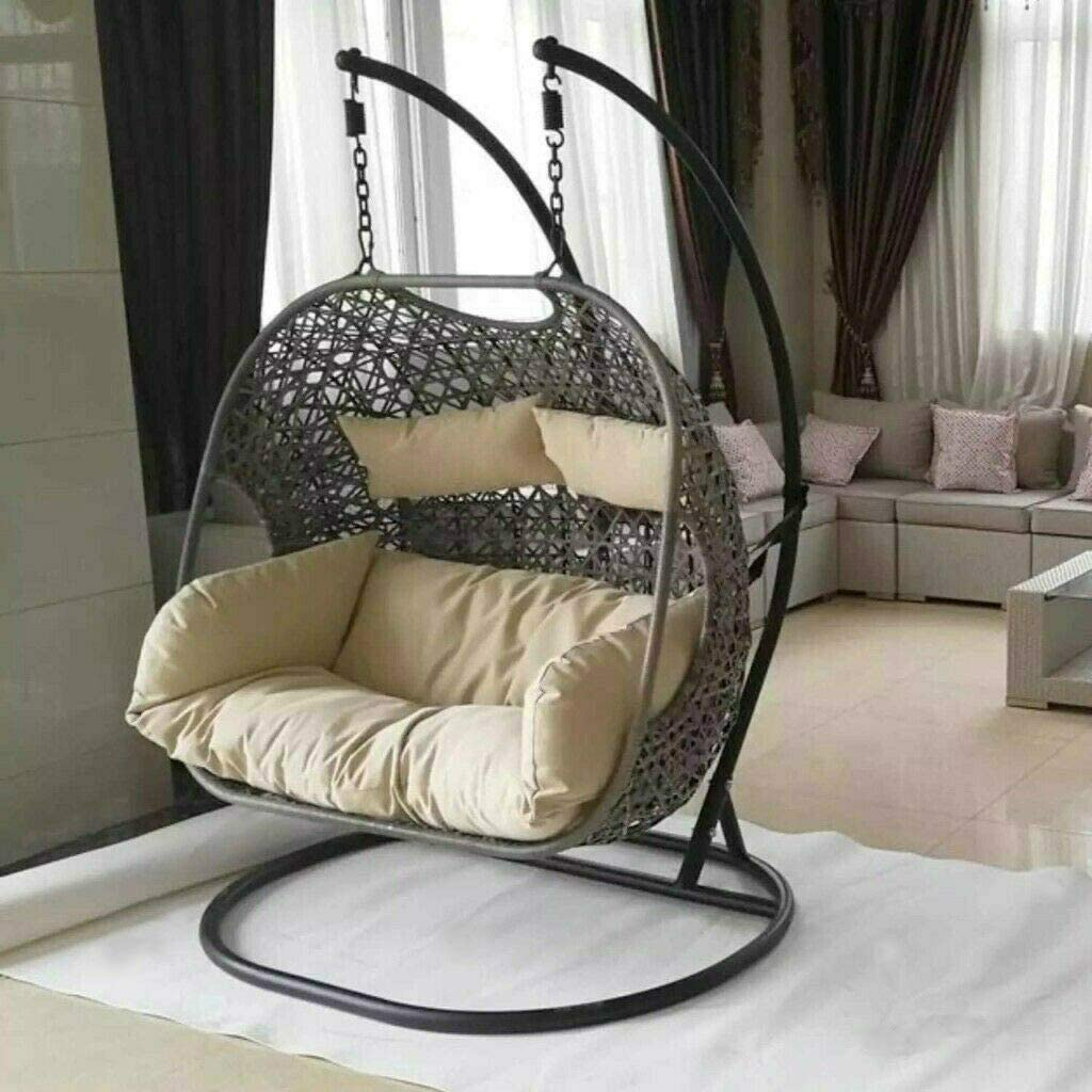double hammock swing with frame