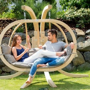 double-hanging-chair-with-stand-thick-cushion-comfy
