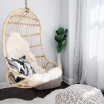 natural-rattan-swing-in-the-corner-for-bedroom