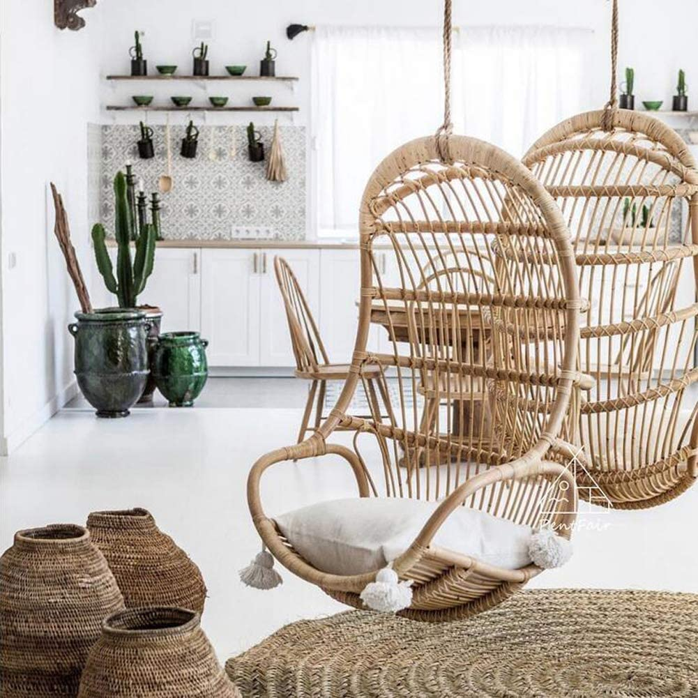 hanging rattan woven chair