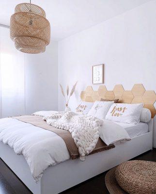 Bedroom-in-natural-tones-with-wooden-DIY-Headboard