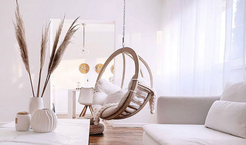 Ceiling-Chair-in-living-room--natural-white-gold--wooden-tones-indoor-swing-chair