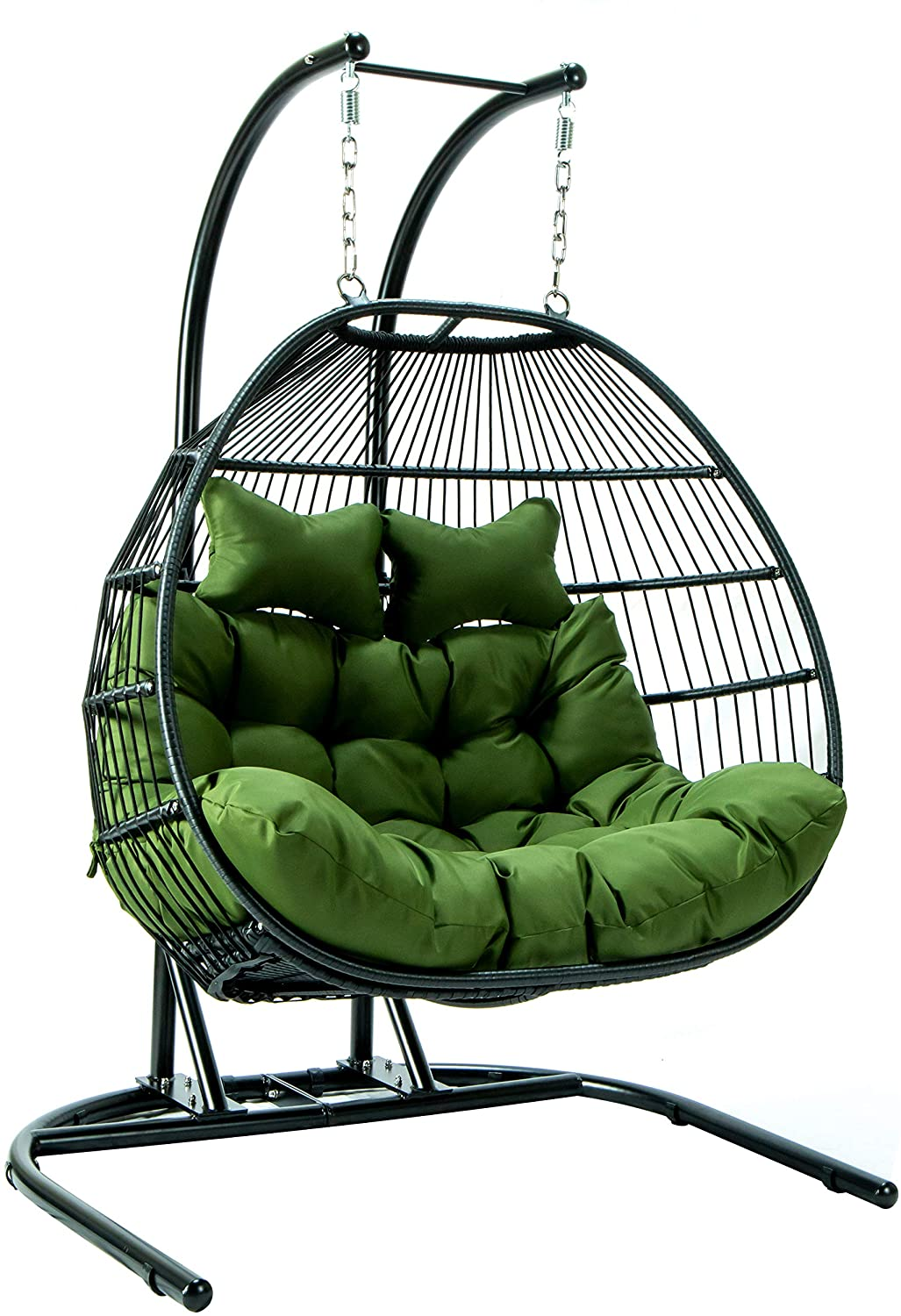 Wicker swing with stand 2 Person Double Folding