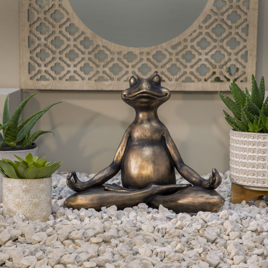 Sinagra Modern Decorative Resin Yoga Frog Figurine for yoga studio at home